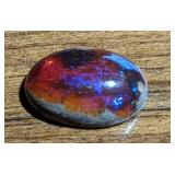4.8Ct Red/Purple Polished Mexican Opal Cabochon