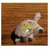 14.4Ct Polished Mexican Opal Turtle Fetish