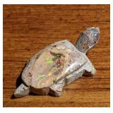 11Ct Polished Mexican Opal Turtle Fetish