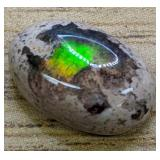 4.5Ct Polished Mexican Opal Cabochon Fiery