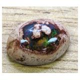 5.8Ct Polished Mexican Opal Bright Green Fire