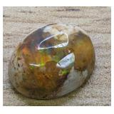 3.8Ct Polished Mexican Opal Cabochon Fiery