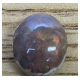 3.5Ct Polished Mexican Opal Cabochon Fiery
