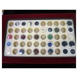 Tray Of Jewelry Making Stones & Crystals Etc