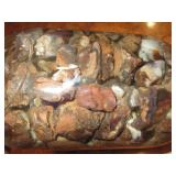 About 2lbs Of Rough Mexican FIre Agate Quart Jar 1