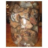 About 2lbs Of Rough Mexican FIre Agate Quart Jar 4