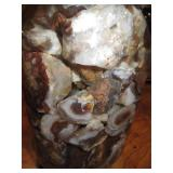 About 2lbs Of Rough Mexican FIre Agate Quart Jar 5