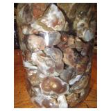 About 2lbs Of Rough Mexican FIre Agate Quart Jar 6