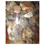 About 2lb Of Rough Mexican Fire Agate Quart Jar 16