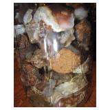 About 2lb Of Rough Mexican Fire Agate Quart Jar 17