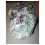 Rainbow Fluorite Purple/Green Crystal Specimen