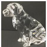 "Waterford Crystal Labrador Retriever Dog Figure 6"""