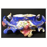 "Victorian Porcelain Desk Inkwell 9 1/2"""