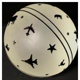 """5"""" Etched Frosted Glass Ball"""