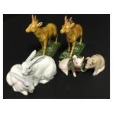 Porcelain Animal Figures Limoges Etc