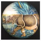 Vintage Signed Willant Rhinoceros Paperweight