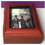Wood Sankyo Photo Music Box