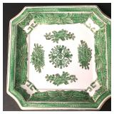 Vtg Chinese Green Chinois Porcelain Plate