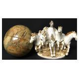 Nesting Globes & Wild Stallions Trinket Box