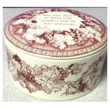 Spode Porcelain Lidded Mementos Jar