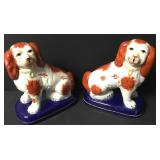 Limoges Eximious King Charles Spaniels Bookends