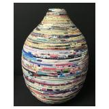 Stacked Contoured Paper Vase