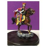 Mounted Red Lancer Lead Soldier