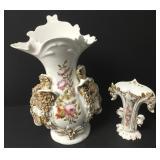 Antique Italian Rococo Handpainted Vase