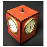 ELIE BLEU of Paris Designer Desk Clock RARE