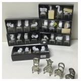 28 Pewter Chair Place Card Holders