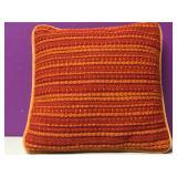 Vintage Burnt Orange Throw Pillow