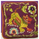 "Custom Needlepoint  12"" Pillow Chinese Dog"