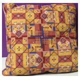 Custom Needlepoint Geometric Pattern Down Pillow