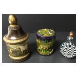 3 Handmade Containers Wood,Ceramic, Glass