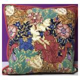 Custom Needlepoint Flower Garden Down Pillow