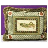 Custom Needlepoint Ohh Grasshopper Down Pillow