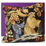 Custom Needlepoint Art Nouveau Down Pillow