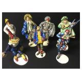 Vtg Italian Paper Mache Venice Carnival Figures