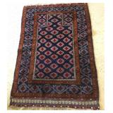 1960s Iranian Baluch Wool Pile Prayer Rug