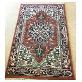 1970s Indo Tabriz Woven Wool Pile Rug