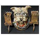 "6"" Dog Bust Dual Candleholder"