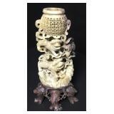 Vintage Chinese Carved Foo Dog Soapstone Sculpture