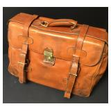Vintage Leather Luggage Satchel Bag