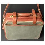 Swaine Adeney Leather Canvas Carryon Bag