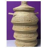 "13"" Tall Vintage Woven Snake Charmer Basket"