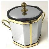 MCM VTG Kraftware Silver/Gold Ice Bucket