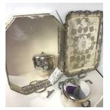 Victorian Silver Plated Serving Trays & Ice Bucket