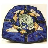 Custom Needlepoint Astrological Sign Seat Cushion