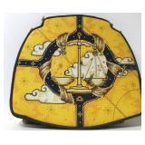 Custom Needlepoint Libra Astrological Seat Cushion