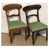 Victorian Wood Peg Honey Bee Seat Side Chairs